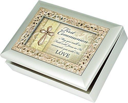 ファッションの First Color Communion Cottage Ornate Song Garden Champagne Silver with Ornate Gold Color Inlay Jewelry Music Box - Plays Song Amazing Grace [並行輸入品] B01K1VXG4Y, えびとチーズの専門店 しまひで:fc3de878 --- arcego.dominiotemporario.com
