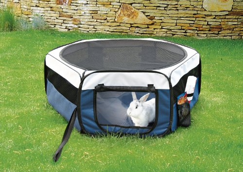 51WN9fsBS-L TRIXIE Pet Products Soft Sided Mobile Play Pen, Small