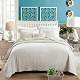 Best Comforbed Comforter Sets - 3-Piece Comforter Set Embroidered Cotton Diamond Floral Agnle Review