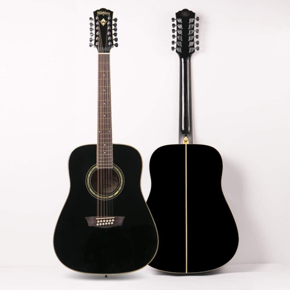 LOIKHGV Guitarras- Guitarra acústica Profesional de 12 Cuerdas y 41 Pulgadas, como se Muestra
