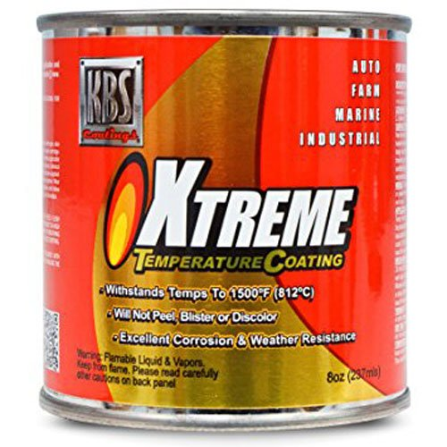 KBS Coatings 65206 Rocket Red Xtreme Temperature Coating - 8 fl. oz. by KBS Coatings (Image #1)