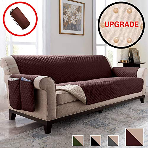 Vailge Oversized Sofa Covers, Durable Sofa Slipover with Back Non-Slip Dots,Machine Washable Sofa Covers for Dogs, Children, Pets(Sofa Oversize:Chocolate)