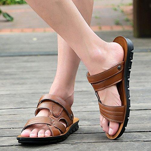 Primavera ed estate Nuovi modelli sandali Scarpe da spiaggia Suture manualmente Scarpe da ginnastica nuovissime giovani di tendenza, marrone, UK = 6.5, EU = 40