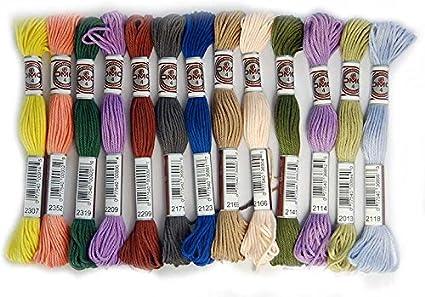 DMC Lote de 20 madejas de Hilo tapicería Art.89 - Colores a Elegir ...