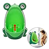 Froggy Potty Training Urinal, Toddler Boy Standing Urinal Potty Training Flush Portable Toilet for Little Boys By Aolvo