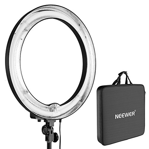 - Neewer 18 inches 75W 5500K Dimmable Fluorescent Ring Light for Camera Photo Studio Portrait Photography, Video, Selfie, Make-up (Only Light Included)