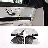 Interior Auto Vehicle Accessory, for Mercedes-Benz S Class W222 2014-2018, Door Speaker Cover Trim Aluminum Alloy Shiny Silver, 4 pcs/set
