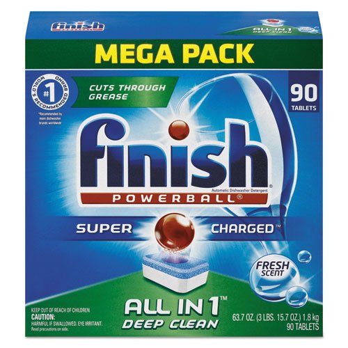 Reckitt Benckiser Powerball Dishwasher Tabs, Fresh Scent, 90/Box (4 Boxes/Carton) - BMC- FSH89729CT by Miller Supply Inc