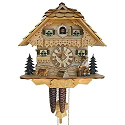 1-Day Black Forest House Cuckoo Clock in Natural Finish