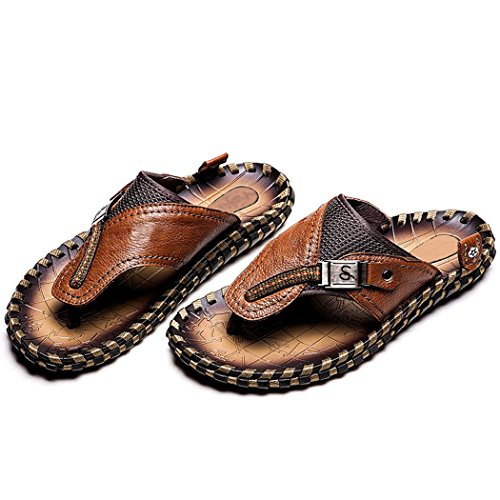 Autumn Melody Fashion Outdoor Casual Personalize Exquisite Handmade Genuine Leather Men's Sandals (12 M US Men, (Tin Man Nose)
