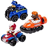 Paw Patrol Nickelodeon, Rescue Racers 3pk Vehicle Set Chase, Zuma, Ryder
