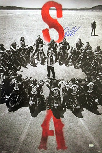 "Ryan Hurst ""Opie Winston"" Autographed/Signed Sons of Anarchy 36x24 Poster with ""Opie"" Inscription - Circle of Bikes"