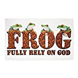 3' x 5' Area Rug FROG Fully Rely On God