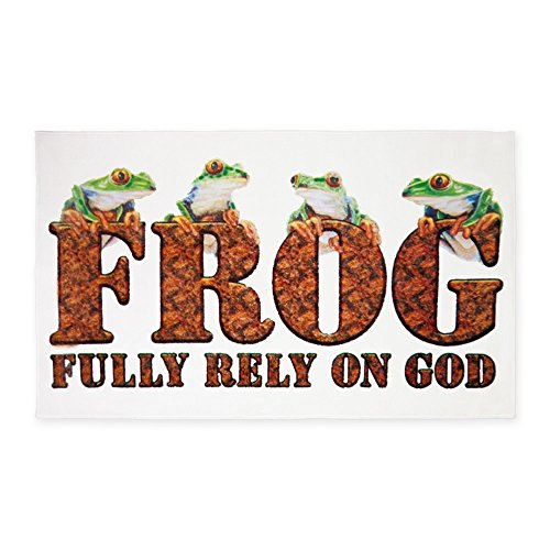 3' x 5' Area Rug FROG Fully Rely On God by Royal Lion