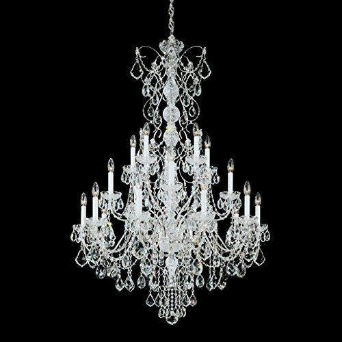 Schonbek 1716-23 Century 20-Light Chandelier in Etruscan Gold with Clear Heritage Crystal,