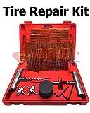 57 Pcs Tire Repair Kit DIY Flat Plugs, T-handle Insert & Spiral Probe Tool, Knife, Sealing Lubricant, Tire Puncture Repair Strips/Strings Tyres Repair Patch Set Car Truck etc. Super-Deals-Shop