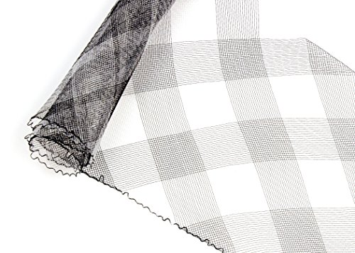Crinoline Horsehair Braid for Millinery 6 Wide - Black & White Plaid - Sold by The Yard