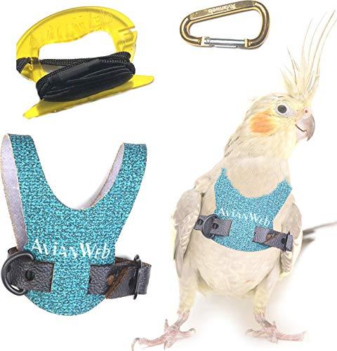 Avianweb Dazzling Sea Green Bird Harness (4) ()