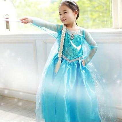 Disfraz ELSA FROZEN con VARITA Y CORONA (120 (4-5 Años))
