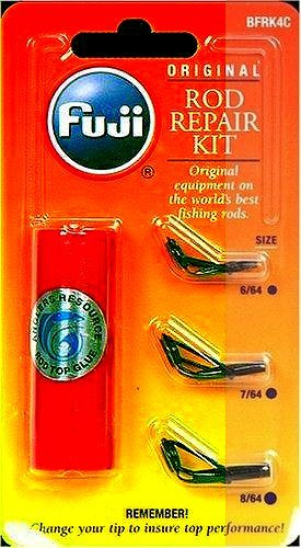 Tip Kit Rod (Fuji BMFRK4C Micro Rod Repair Kit with (3) Tips and Hot Melt Glue, Black Finish)