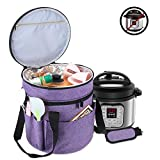 Luxja Carrying Bag Compatible with Instant Pot (6 Quart), Travel Tote Bag for 6 Quart Pressure Cooker and Extra Accessories, Purple