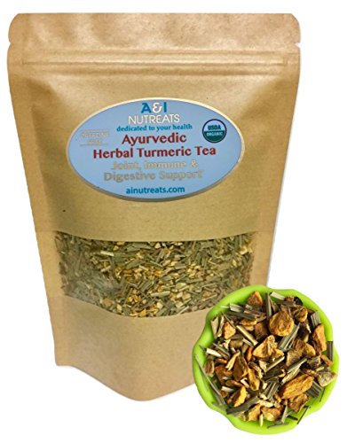 Ayurvedic Anti-Inflammatory tea - Organic loose leaf Turmeric, Ginger, Lemongrass and Licorice (loose tea, 6 oz.) Anti Ginger