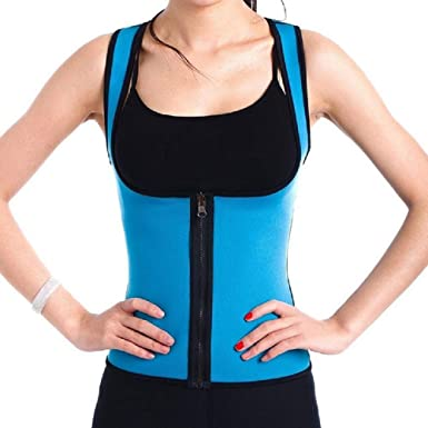 HGWXX7 Womens Underbust Waist Trainer Corsets Zipper Sport Vest Tummy Control Shapewear Body Shaper