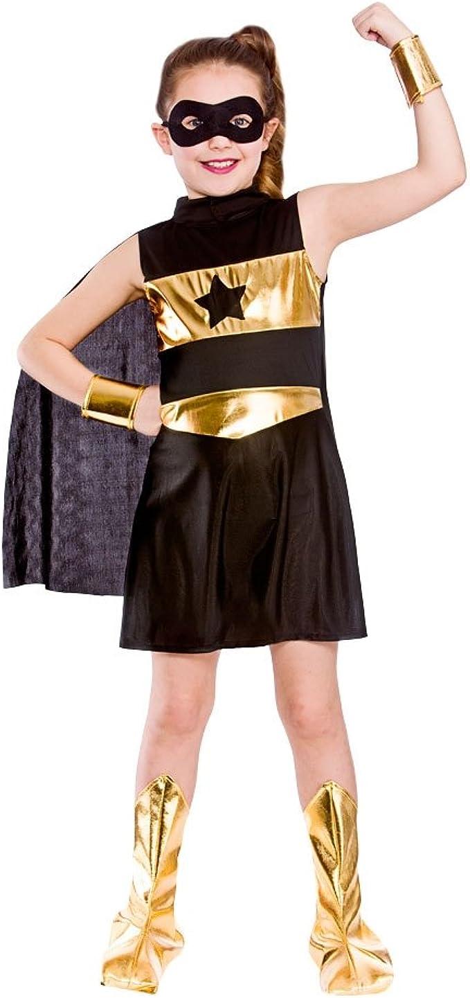 Wicked Costumes Disfraz de superheroína para niña, Color Negro ...
