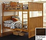 Nantucket Bunk Bed, Full Over Full, Antique Walnut