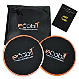 Gliding Discs Core Sliders - Dual Sided Exercise Disc For Smooth Sliding On Carpet And Hardwood Floors - Gliders Workout Legs, Arms Back, Abs At Home or Gym or Travel - (including - Carry bag & User guide)