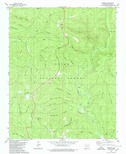 Simpson AR topo map, 1:24000 scale, 7.5 X 7.5 Minute, Historical, 1980, updated 1980, 26.7 x 21.9 IN - Tyvek (Scale Simpsons House)