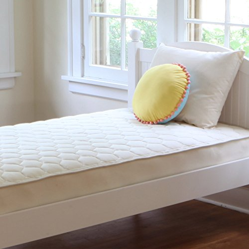 2 Sided Mattress - Naturepedic Organic Cotton Quilted Deluxe 2-Sided Mattress - Twin - 38
