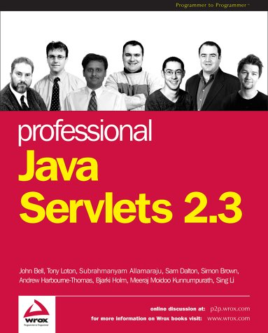 Professional Java Servlets 2.3