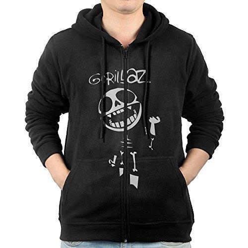 Men Hoodie GORILLAZ BONES Damon Albarn Mercury Prize Zip Sweatshirt