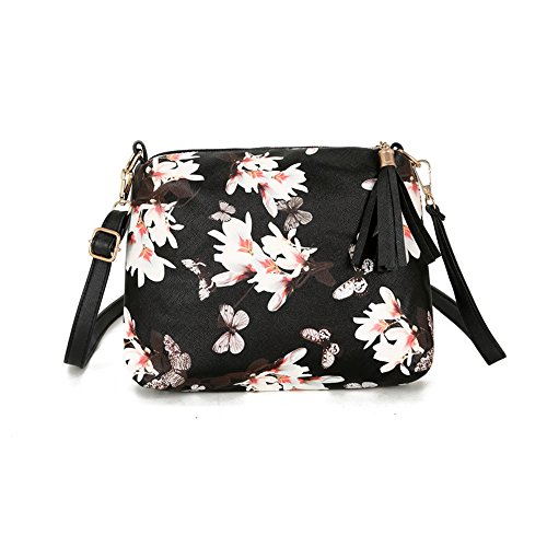 Portable Women Travel Make Up Bag Cosmetic Crossbody Bags Tassel Purse Small Makeup Bag Cosmetics Pouches Floral Butterfly