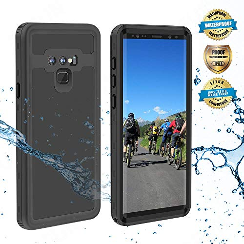 Effun Samsung Galaxy Note 9 Waterproof Case, IP68 Certified Shockproof Snowproof Dustproof Full Body Protection Underwater Cover with Built-in Screen Protector for Samsung Galaxy Note 9 Black