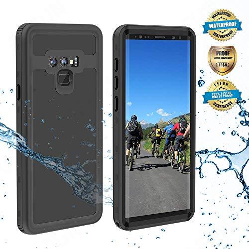 Effun Samsung Galaxy Note 9 Waterproof Case, IP68 Certified Shockproof Snowproof Dustproof Full Body Protection Underwater Cover with Built-in Screen Protector for Samsung Galaxy Note 9 Black