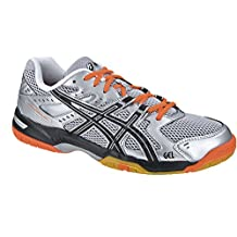 Asics Gel Rocket 6 Men's Indoor Court Shoes Silver/Black/Neon Orange (8.5)