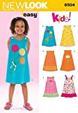 New Look Sewing Pattern 6504 - Child Dresses Sizes: A (3,4,5,6,7,8)