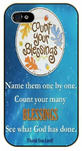 Coun your blessings, name them one by one. Thank you Lord - Floral - Bible verse IPHONE 5C black plastic case / Christian Verses