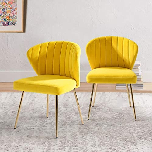 Set of 2 Accent Chair Glam Velvet Side Chair - the best living room chair for the money