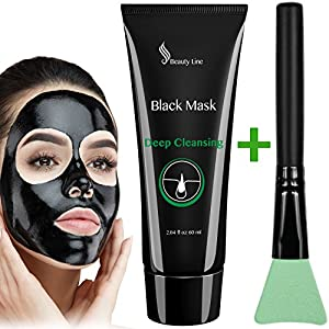 Blackhead Remover - Black Mask - Charcoal Peel Off Mask - Activated Charcoal Mask - Facial Mask - Charcoal Mud Face Mask - Blackhead Peel Mask - Peel Off Mask - Deep Pore Cleansing Mask (60 ml)