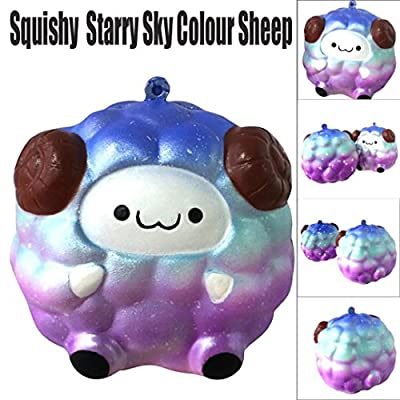Cinhent Kawaii Clever Galaxy Sheep Soft Squeeze Squishy Toys for Your Family or Office Fun Play