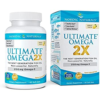 Nordic Naturals Ultimate Omega 2X - Extra Omega-3s Support Heart, Brain, and Immune Health, 60 Soft Gels