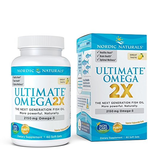 2 X 60 Capsules - Nordic Naturals - Ultimate Omega 2X, Supports Heart, Brain, and Immune Health, 60 Soft Gels