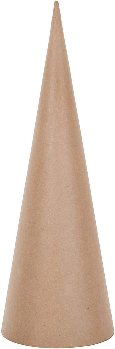 Darice Paper Mache Open Bottom Cone 10.63 x 4 inches (6-Pack) 2873-311