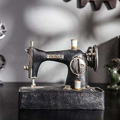Modelo de máquina de coser antigua resina cafeterías escaparate de antigüedades artesanía adornos: Amazon.es: Hogar