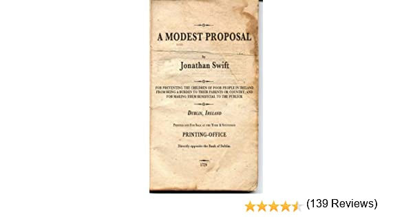 A Modest Proposal Non Illustrated Kindle Edition By Jonathan