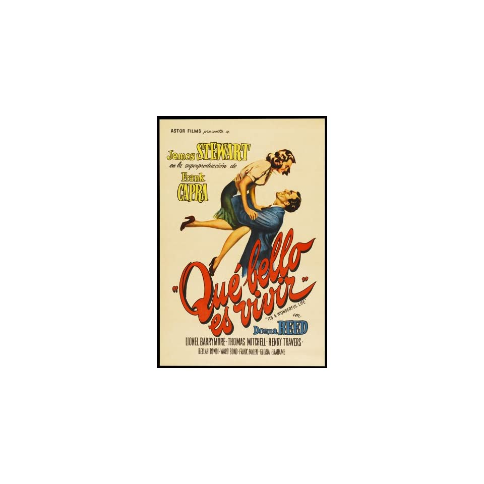 Its a Wonderful Life Poster Movie Argentine 11x17 Carl ...