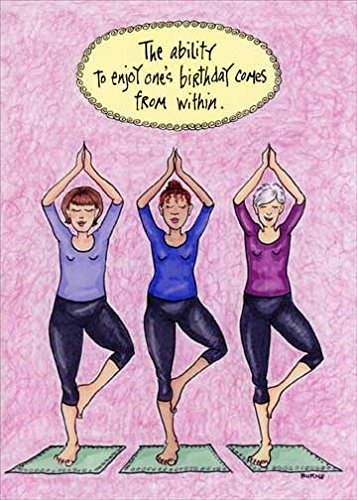 Amazon Posing Yoga Women Oatmeal Studios Funny Birthday Card
